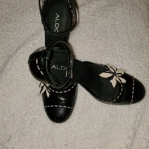 Aldo High Heels Black with Pink Stitches